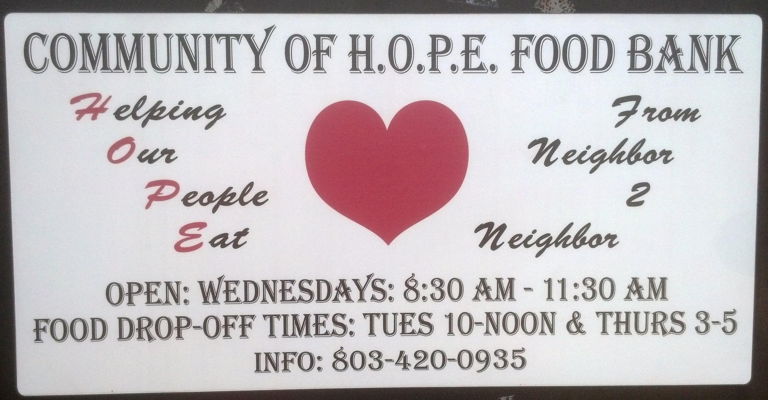 elgin community of hope food bank